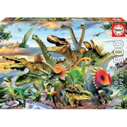 Dinosaurs, Educa Puzzle 500 pcs