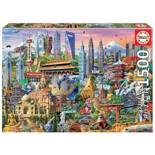 Ázsia látványosságai, 1500 darabos Educa puzzle