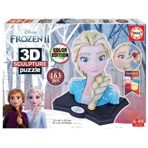 Frozen II. - Elsa, Educa Color Edition 163 darabos 3D puzzle szobor