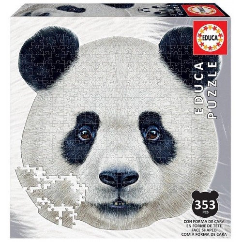 Panda portré, 353 darabos Educa kontúr puzzle