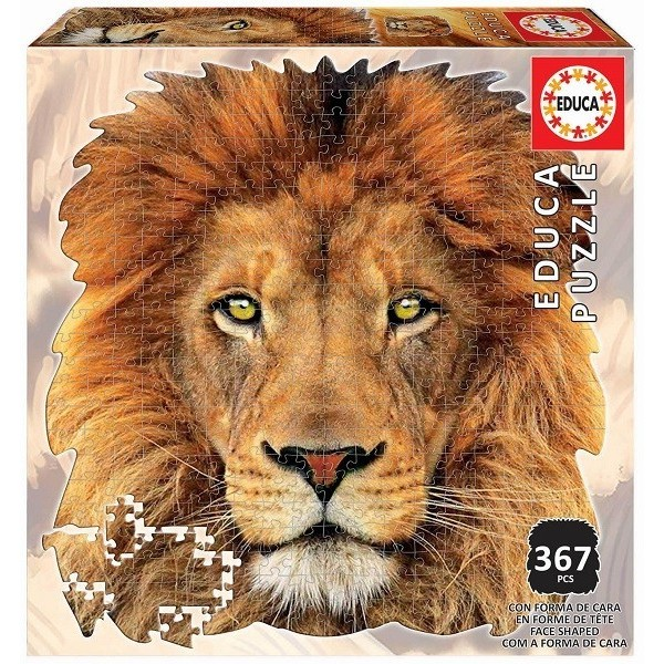 Lion portrait, Educa puzzle 367 pcs