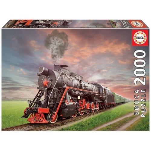 Steam train, Educa Puzzle 2000 pc