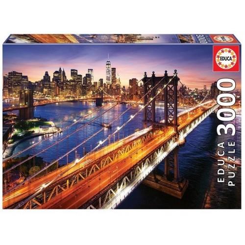 Manhattani este, 3000 darabos Educa puzzle