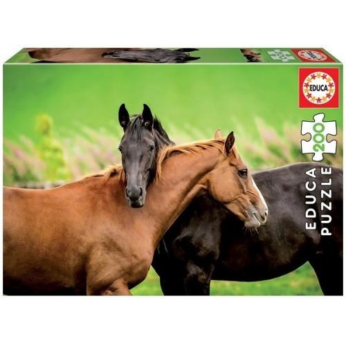 Horses, Educa puzzle 200 pcs