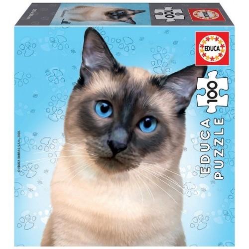 Sziámi macska, 100 darabos Educa puzzle